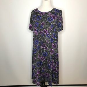 LuLaRoe Carly Dress Size 3XL High Low Floral